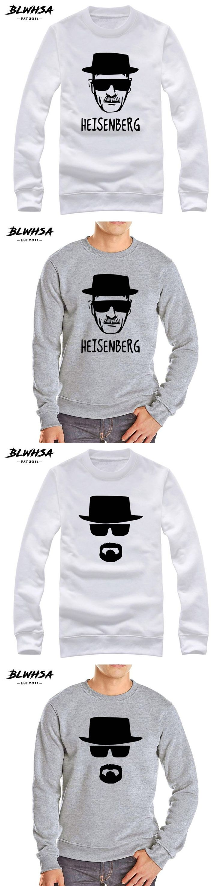 BLWHSA Heisenberg Breaking Bad Hoodies Fleece Sweatshirt For Men Hoody high Quality Casual Autumn Winter Men's Sportswear Hoodie