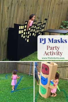 The perfect activity for your PJ Masks Birthday Party! Let your kids fly like Owlette, be strong like Gekko, and super fast like Catboy!