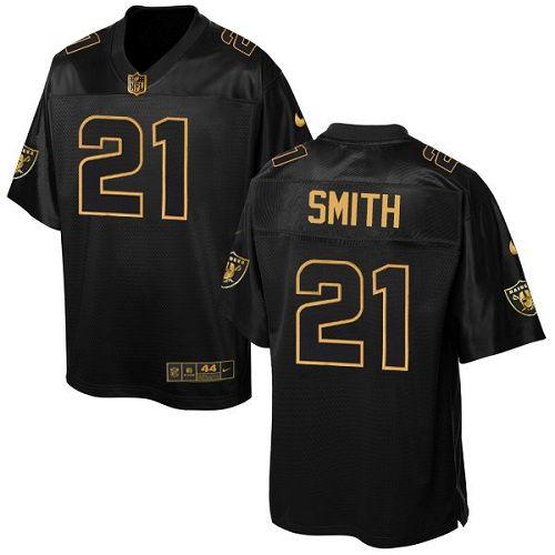 $24.99 Men's Nike Oakland Raiders #21 Sean Smith Elite Black Pro Line Gold Collection NFL Jersey