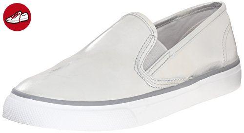 Sperry Top-Sider Damen Seaside Metallic Sneakers, Silber (Silver), 39.5 EU (*Partner-Link)