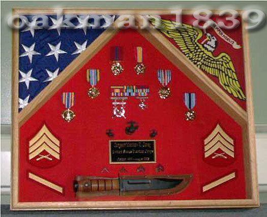 Military Shadow Box Flag Display Case