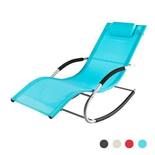 SoBuy® OGS28-MI Fauteuil à bascule Chaise longue Transat de ...