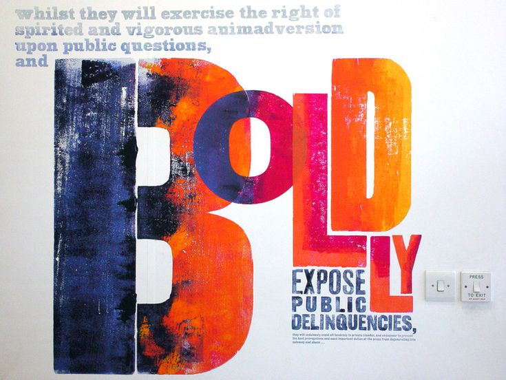 Alan Kitching – Boldly Expose Public Delinquencies #typography #graphicdesign
