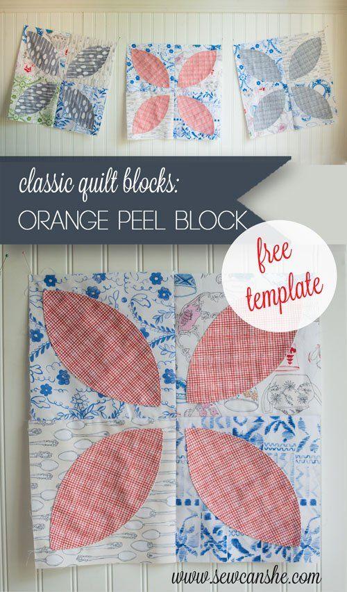 Free Tutorial Orange Peel Block By Caroline Fairbanks
