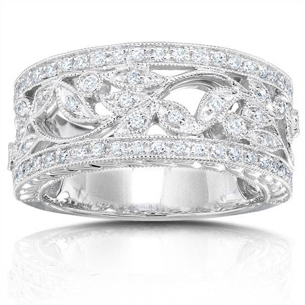 engagement rings for women show your lasting love with a gift of this beautiful diamond - Wide Band Wedding Rings