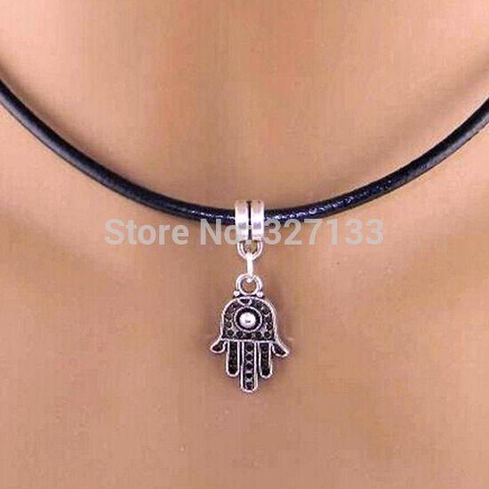 Новинка ювелирные изделия ожерелье 10 шт. сглаза подвески ожерелья кожа ожерелье DIY ключицы ожерелье подарок 50 см S5951