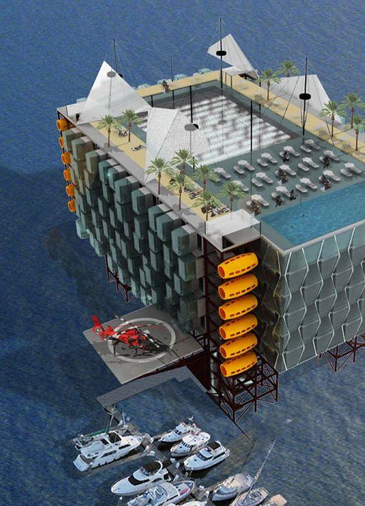 Plataforma de Petróleo vira resort