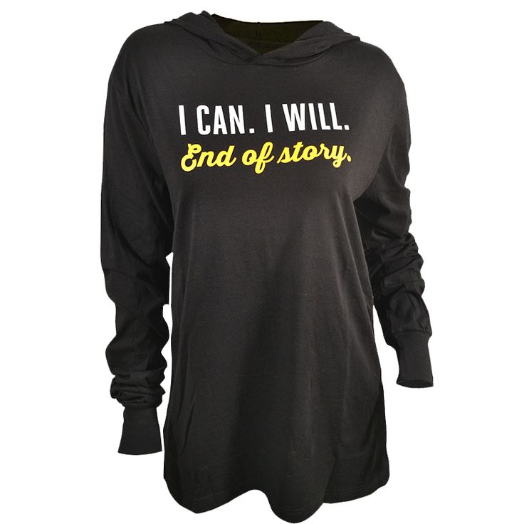 I Can, I will. End of Story | Light Pullover Hoodie ASSKICKER INK.  Regular price $35.00 CAD