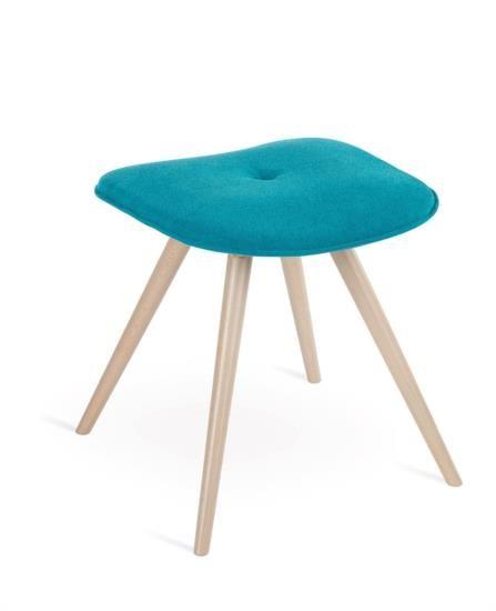 Sedia pouf in legno con sedile in ecopelle o tessuto