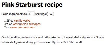 PINK STARBURST DRINK
