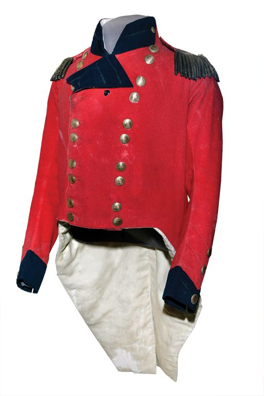 Officer's Coatee, Major General Sir Isaac Brock, c. 1812    The hole left by the American musket ball that killed Isaac Brock is clearly visible on the chest of his coat.    Canadian War Museum, CWM 19670070-009