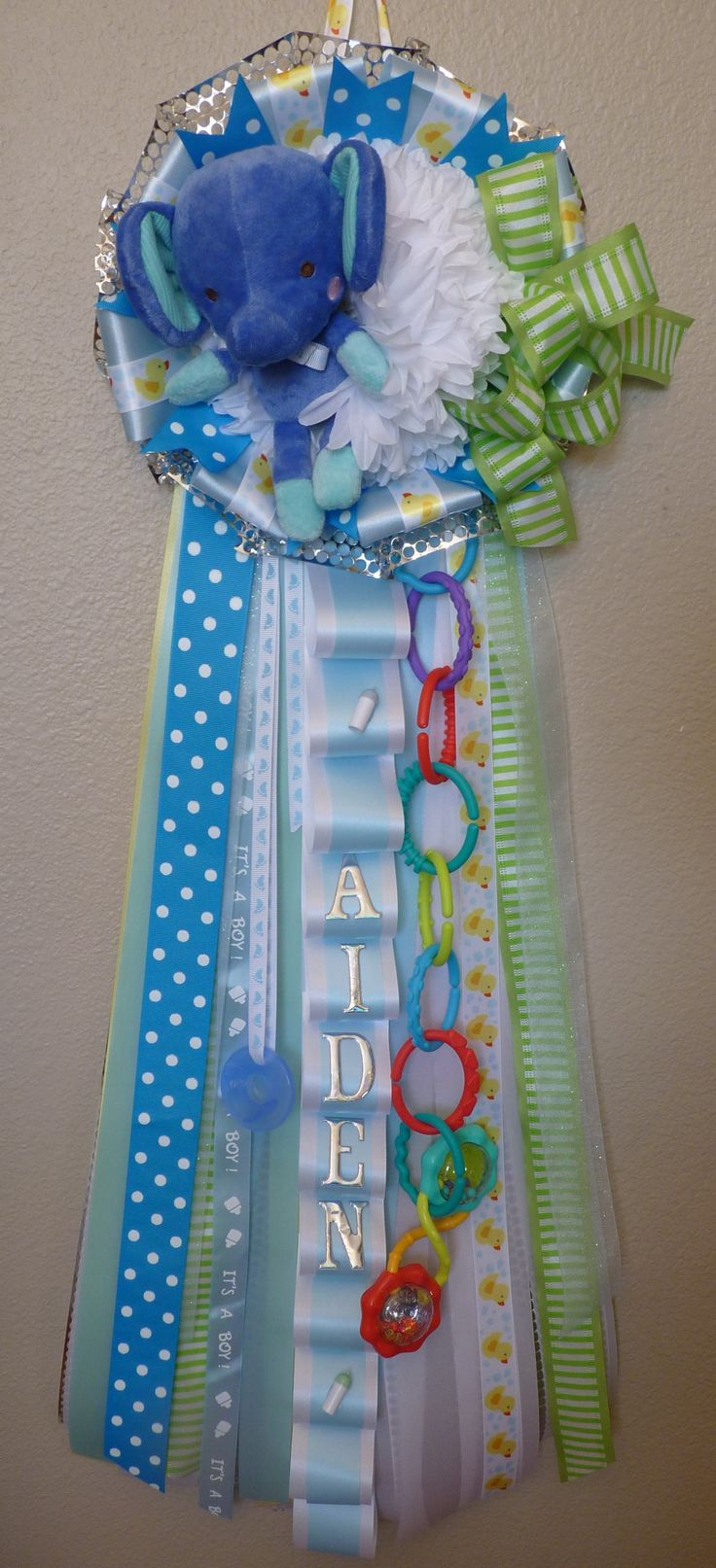 Welcome baby mum for boy great for baby shower or for Baby boy door decoration