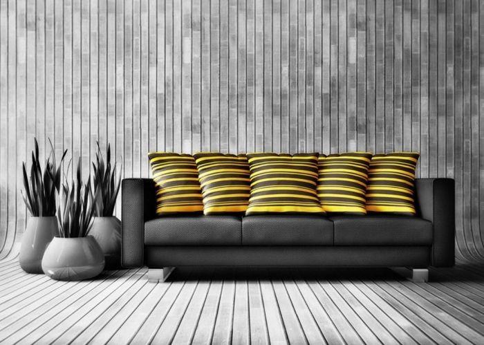 CSÍKOS NAPPALIK  A nappali általában a lakás legnagyobb alaperületű helyisége. Ne engedd, hogy a monoton színek és minták unalomba fullasszák! Dobd fel például csíkokkal - mutatunk pár példát. #csíkosnappalik