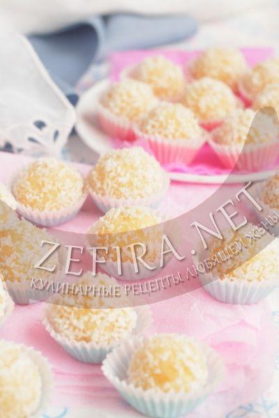 Кокосовые конфеты рафаэлло из сгущенного молока - рецепт и фото