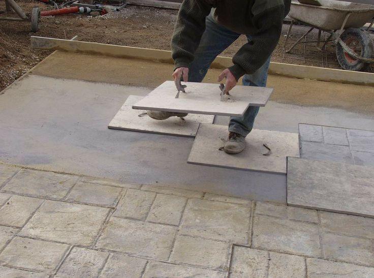 Empreintes pour b ton terrasses pinterest for Terrasse petit budget