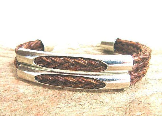 #Horsehair #Bracelet Double Barrel #Horse #Hair #Bracelet #Custom