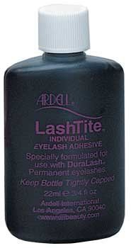 Ardell LashTite Adhesive 3/4oz Dark by Ardell. $4.69. INDIVIDUAL EYELASH ADHESIVE. SPECIALLY FORMULATED FOR USE WITH DURALASH. Color: Dark. 3/4 oz. Bottle. Waterproof, individual lash adhesive. Specially formulated for use with Duralash eyelashes
