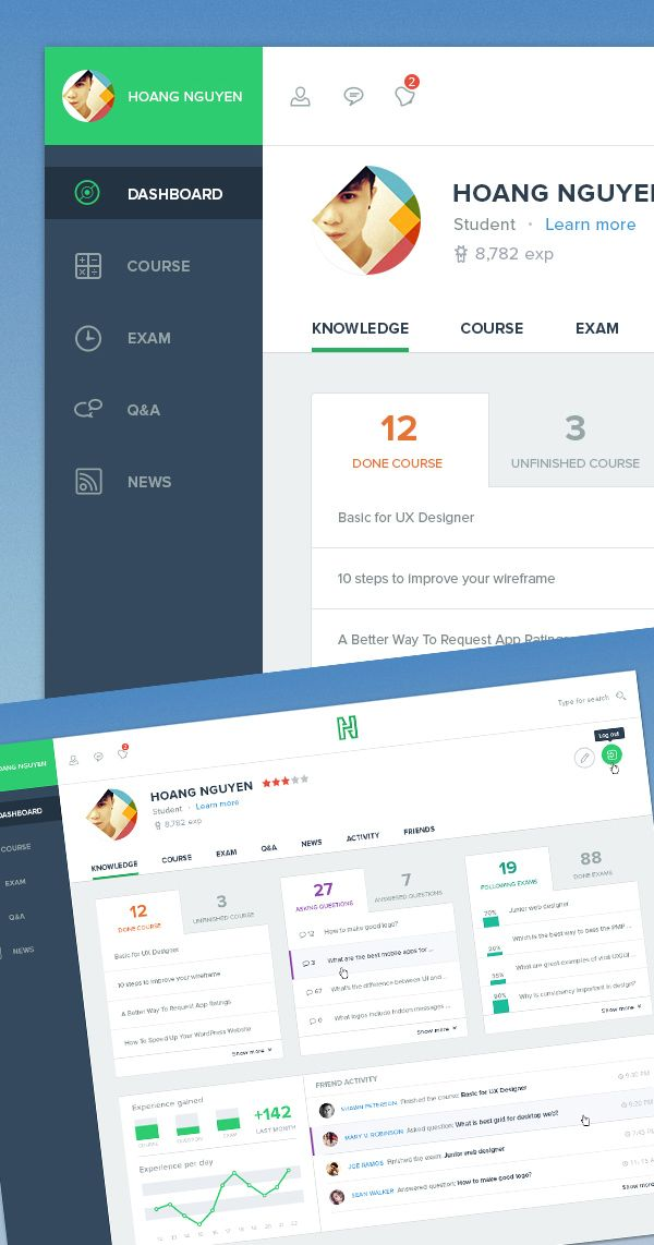 Free Dashboard UI Design #freepsdfiles #freepsdmockups #UIdesign #freebies