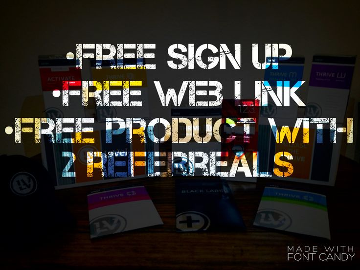 Start your OWN BUSINESS from HOME!  -free sign up -free web link  -free MONTHS worth of product with just TWO referrals