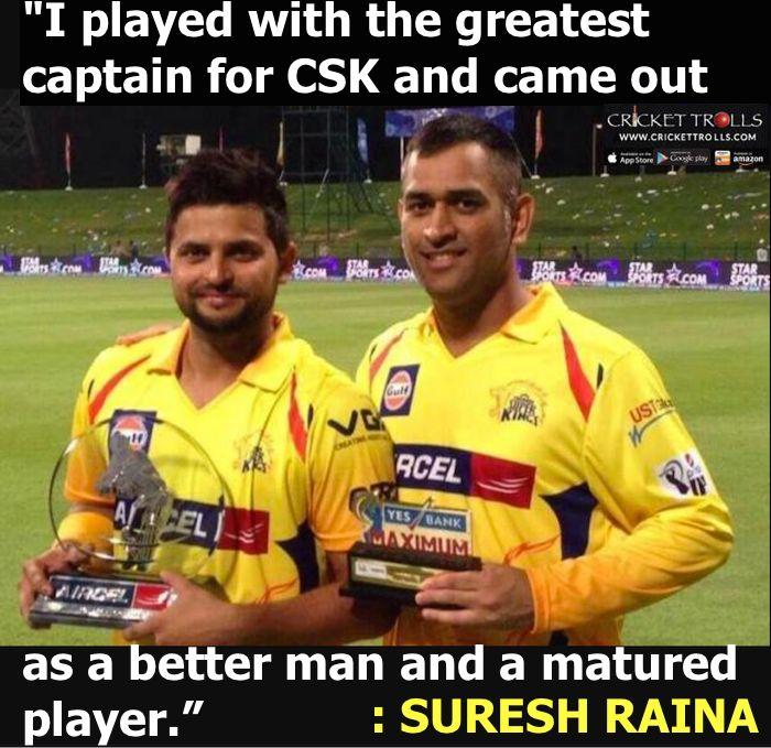 Suresh Raina about MS Dhoni :) For more cricket fun click: http://ift.tt/2gY9BIZ - http://ift.tt/1ZZ3e4d