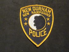 NEW DURHAM NEW HAMPSHIRE POLICE PATCH