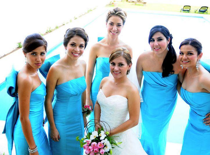 #Damas #MadeOfHonor #Cyan #Wedding #Boda #BrideToBe #Love #Trend