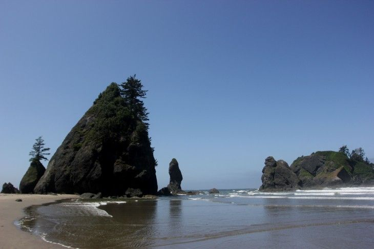 The National Park on the Tip of America That Almost Wasn't -- Shi Shi Beach: Located 8.5 miles south of Neah Bay, Washinton State, USA. About 4.5 hours northwest of Seattle.