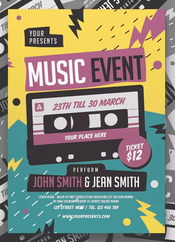 Music Event Flyer By Lilynthesweetpea On Graphic Design Flyer Event Poster Design Flyer Design Inspiration