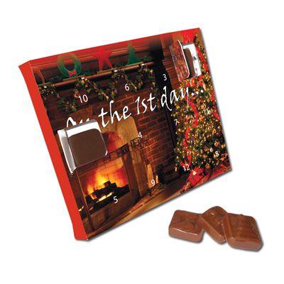 Image of Christmas advent calendars - desktop chocolate advent calendar all over printed