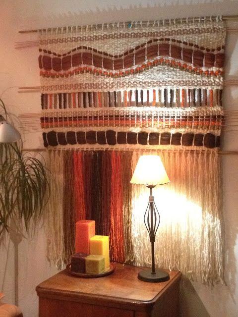 Telaresytapices .... Maria Elena Sotomayor : .....un muro FOME ?????... le tengo la solucion!!!...un Telar.....aporta color, calidez y textura!