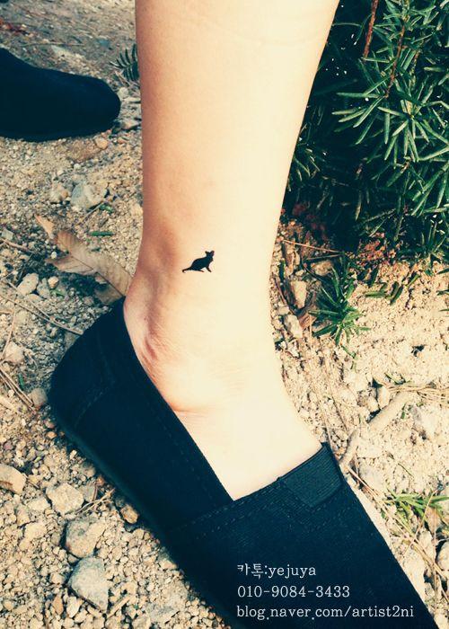 cat tattoo legs tattoo minitattoo fashion tattoo