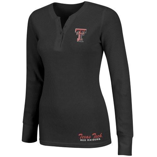 Colosseum Athletics Women's Texas Tech Shadow Henley Polo