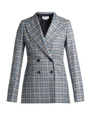017730c2aae80 Angela checked silk and wool-blend blazer