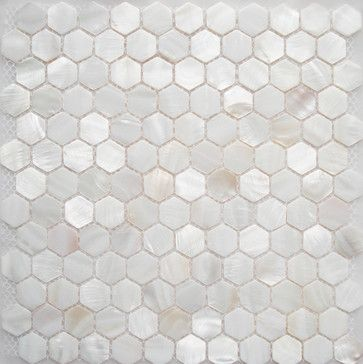 FIFYH shell tile white kitchen backplash tile mother of pearl tile for bath wall - modern - Tile - Other Metro - FIFYH.com