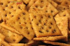Spicy Saltine Crackers Recipe Appetizers, Lunch, Snacks with canola oil, caraway seeds, cayenne pepper, dill weed, ranch dressing, saltines