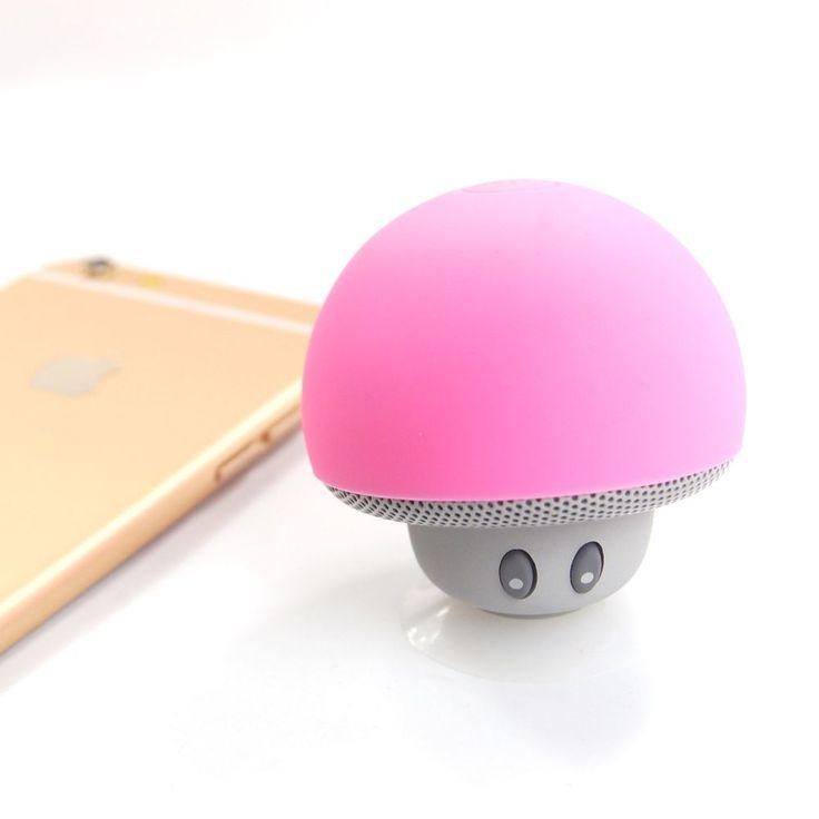 Portable Mini Bluetooth Speaker Mushroom Speaker Cute Speaker Phone Stand Speake