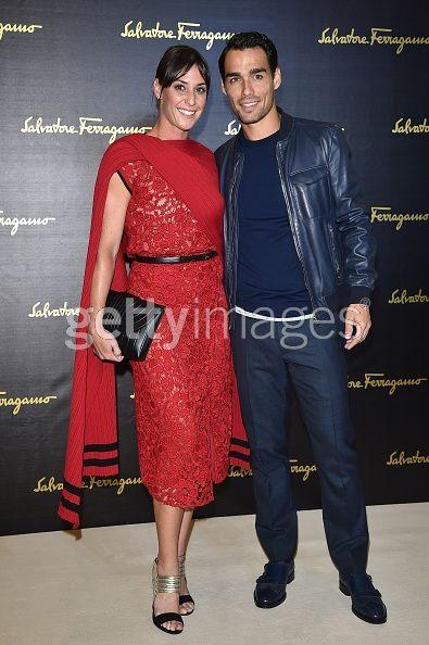 Flavia Pennetta and Fabio Fognini...
