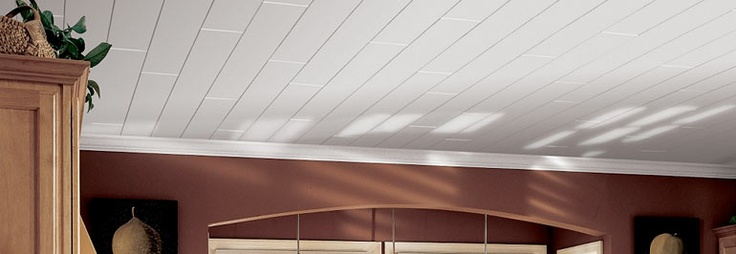 Armstrong offers a wide variety of removable ceiling options - including tile and plank. I'm not too picky, it'll be up to Charity. =)