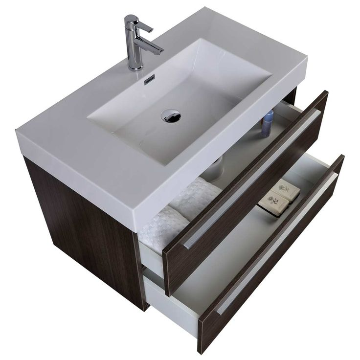 355 wall mount modern bathroom vanity in grey oak tn m900 go