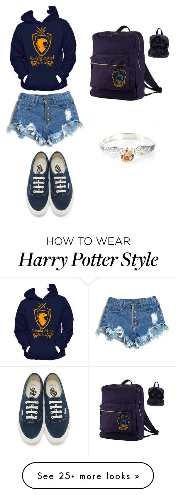 """""""Ravenclaw"""" by tguedes on Polyvore featuring Vans"""