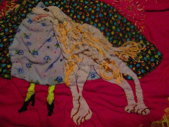 Arte tessile Manufatto tecnica mista patchwork di StrassiColorai
