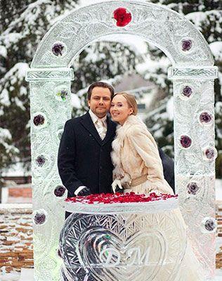 Вдохновение: зимние свадебные арки