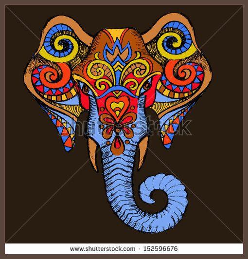 Elephant African mask