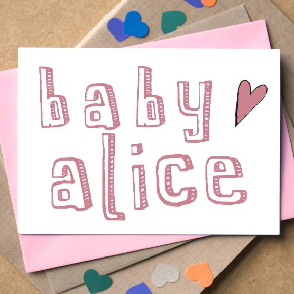 42 best hardtofind gifts for new mums images on pinterest babies personalised new baby card negle Image collections