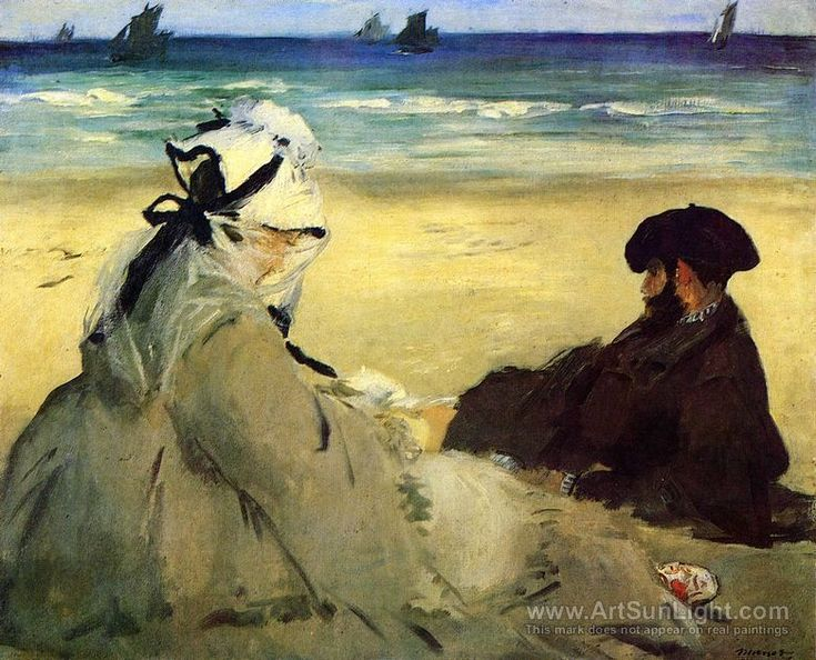 On The Beach 1873 - Edouard Manet.
