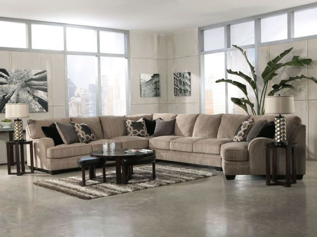 Sorento 5pcs Oversized Modern Beige Fabric Sofa Couch