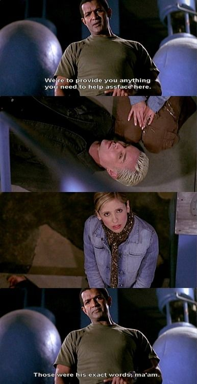 """Ha! Riley's message to Buffy from season seven """"The Killer in Me"""""""