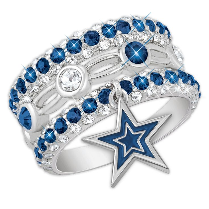 Dallas Cowboys Stackable Ring Set - The Danbury Mint $89.95