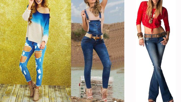 Outfits con pantalon de mezclilla Moda 2016- 2017