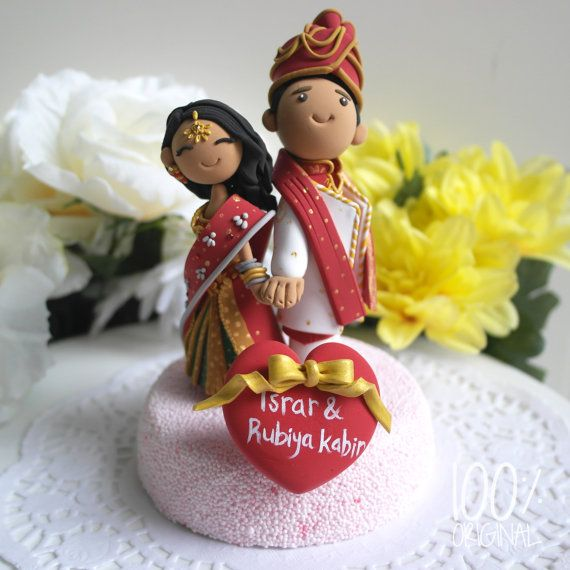 Custom Wedding Cake Topper Indian traditional by 100original, $150.00